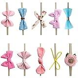 OOSAKU Bébé Fille Nylon Arc Floral Bandeaux Élastiques Accessoires De Cheveux De Bébé pour Nouveau-Né Enfants en Bas Âge (Style C)