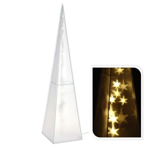 LED-Pyramide mit Hologramm-Beleuchtung, Innenbereich, Weihnacht, Leuchtpyramide, 60 cm