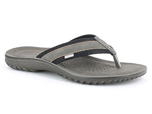 Do Andar Sandálias Preto Tamanho Simplesmente Verão Toe Casual Planas Conforto Sapatos Deslizar Mens Pós Textura Dupla Praia ZBa7qPWUz