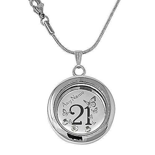 [Sponsored]21st Birthday Celebration Charm Bead - Sterling Silver 925 - Gift boxed opWBrJ92y