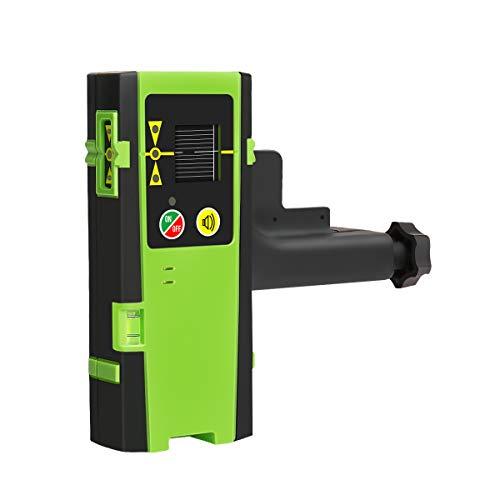 Huepar LR-6RG Laserdetektor für Puls-Linienlaser, Digital Laserempfänger Erkennen für Rote und Grüne Laserstrahlen, Verwendet mit Pulsing Line Laser bis zu 60m/200ft Entfernung