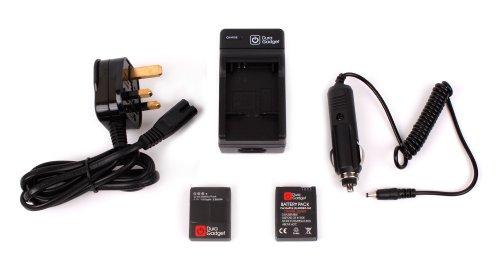 DURAGADGET-Caricabatteria-Con-Connessione-Inglesa-Caricatore-Da-Auto-Per-Videocamera-GoPro-Hero-HD-3-3-AHDBT-201-AHDBT-301-White-Silver-Black-Special-Edition-EXTRA-DOPPIO-PACK-di-Batteria-GoPro-Hero-3