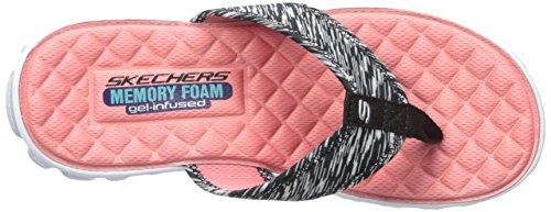 Skechers Sport Ez Flex Raffreddare Hang Loose Flip Flop Black/pink
