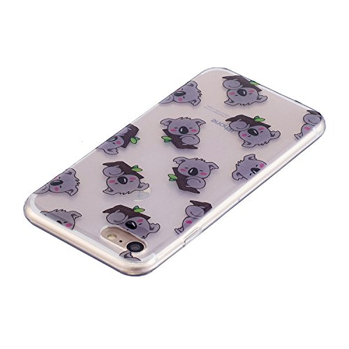 iPhone 8 Hülle, Voguecase Silikon Schutzhülle / Case / Cover / Hülle / TPU Gel Skin für Apple iPhone 7/iPhone 8 4.7(Karikatur Flamingo) + Gratis Universal Eingabestift Koala 01