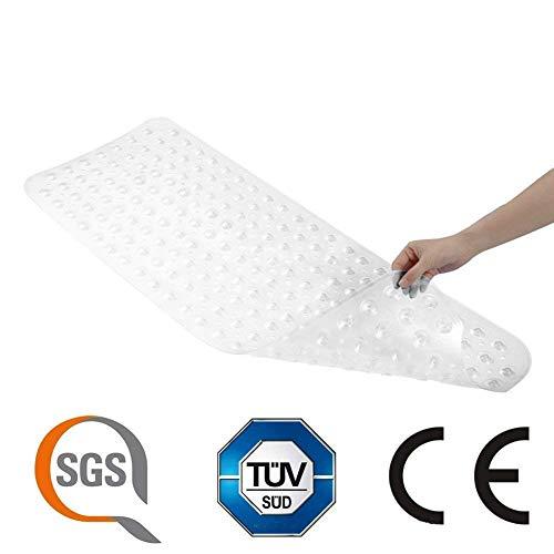 Transparent Badewanne Matten Anti-Rutsch-Wanne Badewannenmatte TUV SGS (Schimmelpr�vention) Anti-Bakterien-Dusche Matten, Superior Griff und Drainage Extra lange(40 cm x 100 cm)