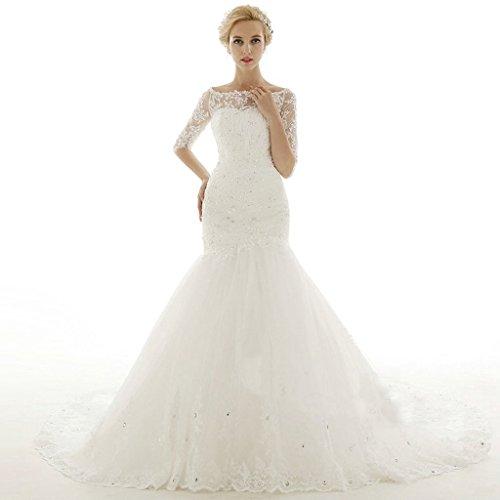 ebelz-womens-mermaid-half-laces-sleeves-winter-wedding-dress-bridal-gown-size-10