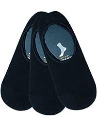 Montebello Unisex Cotton Ankle Socks (Set of 3, Black)