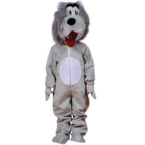 Imagen de dress up america  lobo, disfraz para adultos, color gris 596 adult  alternativa