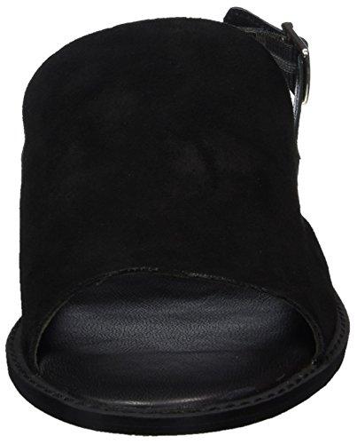 VERO MODA Damen Vmmea Leather Sandal Slingback Schwarz (Black)
