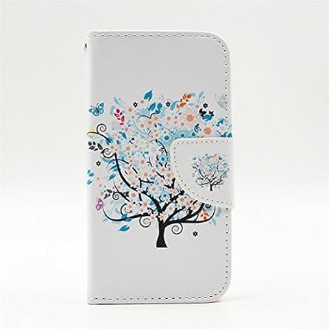 Coque Lumia 635 Portefeuille, KATUMO Nokia Lumia 635/630 Pochette Flip Case Cover Coque en Cuir Protection pour Nokia 635 Housse-#2Petit Arbre