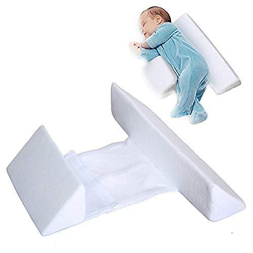 LARRY SHELL Baby-Schlafkissen/Baby-Seitenkissen Wissenschaftliches orthopädisches Design Sicherer Milch-Anti-Spuck-Kopf-Samt Komfortabler Stoff für Neugeborene
