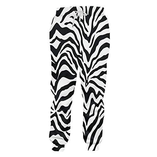 Kinder Aztekische Kostüm - DE-pants-personality Casual Hosen Junge Lange Lose Leopard 3D Hose Gedruckt Zebrastreifen Hiphop Große Größe Kostüm Unisex Winter Hosen Zebra Stripes M