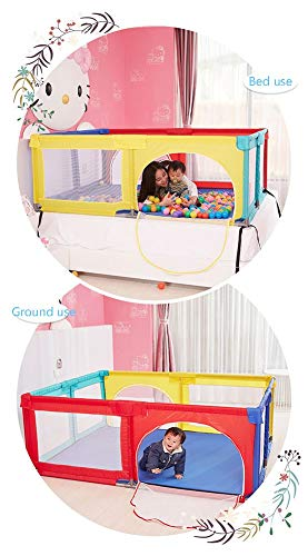Playpen Big Bed Anti-drop Baffle for Infants, Baby Indoor Outdoor, Kid's Safety Activity Center, 180x190x70cm (color : Multicolor) Playpen  3