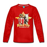 Spreadshirt Bibi Und TinaTohuwabohu Total Sabrina Kinder Premium Langarmshirt, 122/128 (6 Jahre), Rot