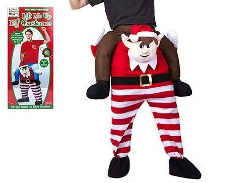 Elben Behavin Heben Mich schlecht Kostüm - Elf Kostüm - Weihnachten Dress Up (Auf Dem Elf Regal-kostüm)