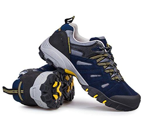 Chaussures de randonnée adulte unisexe Sportif Derbies chaussures d'hiver Bleu
