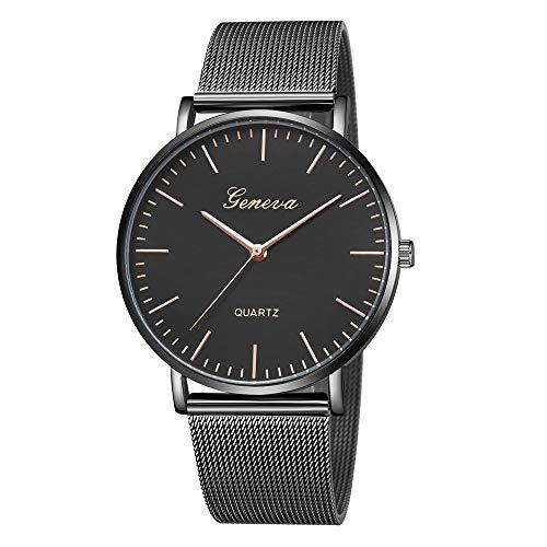 Jia Meng Geneva Mesh Gürtel Damen Classic Quartz Edelstahl Armbanduhr Armband Uhren