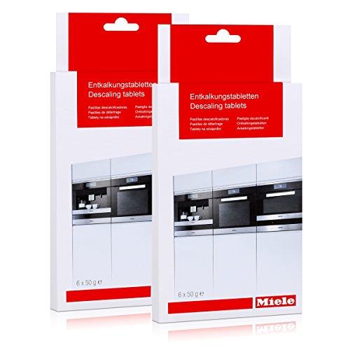 2er Pack Miele Entkalkungstabletten für Kaffeevollautomaten - Klimagarer - Drucklos-Dampfgarer - Herde / 6 x 50 g