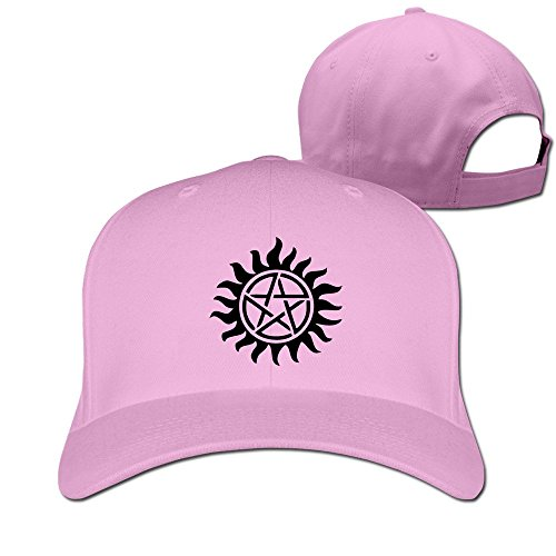 thna-supernatural-reglable-fashion-casquette-de-baseball-rose-taille-unique