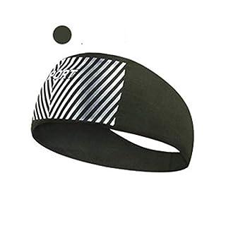 XUFANGCAO, Sports Sweat Headband For Women Men, Breathable Wide Yoga Headband Elastic Sweatband Hair Band Run Cycling Yoga Dance Bodybuilding Fitness (Color : Sweatband-AGRE)