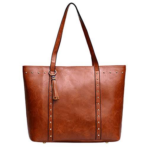 Ears Damen Taschen Frauen Kleine tasche Weihnachten Leder Quaste Reißverschluss Nieten Handtasche Schultertasche Messenger Bag Umhä ngetasche Canvas Tasche Brieftasche Rucksack -