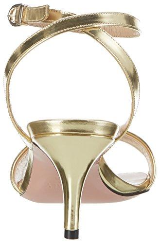 Oxitaly Damen Soave 18 Sandalen Gold (Oro)
