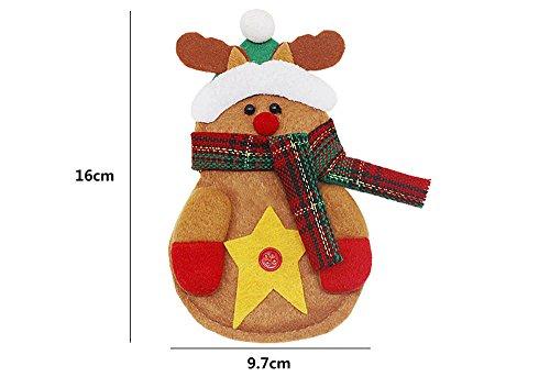 caolator Hüllen für Besteck Tafelsilber in Form von Kleiner Schneemann/Der Vater Weihnachten Weihnachtsdekoration