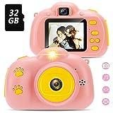 Yidarton Kinder Kamera für 4-8 Jahre alte Mädchen Geschenke, Selfie Kleinkindkamera mit 2 Zoll Bildschirm,Spiel,...