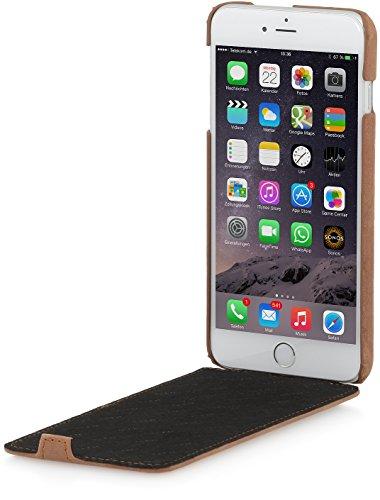 StilGut UltraSlim Case Hülle Leder-Tasche für iPhone 6. Dünnes 360 Grad Flip-Case vertikal klappbar aus Echtleder für das Original iPhone 6 (4,7 Zoll), schwarz Nappa Cognac Vintage