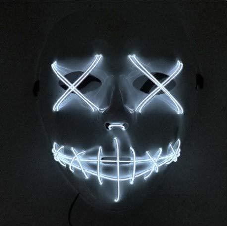 Billig Pet Kostüm - Tus disfraces baratos Ihre billigen Kostüme Maske LED Weiß Simillieren die Purga