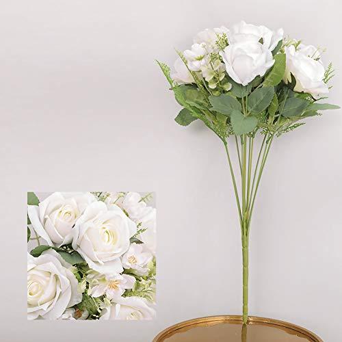 Ariymap 11 Kopf Elegante künstliche Rosen Blume Kunstblumen für Hochzeitsdekoration und Tischdekoration