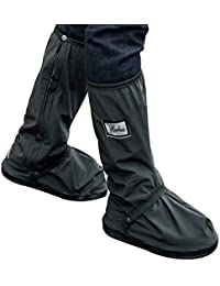 Botas impermeables, fundas de lluvia para zapatos, color negro, antideslizantes, reutilizables,