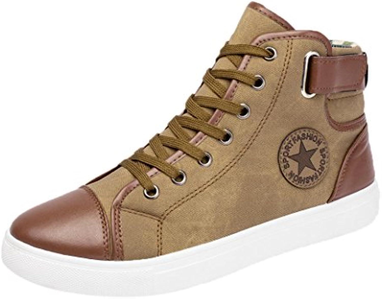 Botas para Hombre,Zapatillas Altas de Tela Unisex Adulto Zapatos de Lona de Tobillo  -