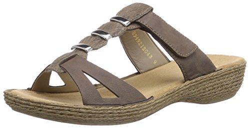 Rieker Konstanze K5596, Chaussures mixte enfant Beige - Beige (fango/leinen / 64)