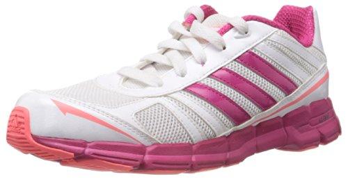 adidas adifast K G96385, Unisex - Kinder Laufschuhe Weiß (RUNNING WHITE FTW / BLAST PINK F13 / RED ZEST S13)