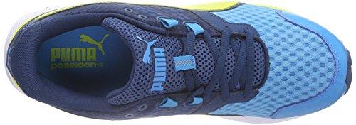 Puma Poseidon v2, Herren Laufschuhe Blau (blue danube-poseidon-sulphur spring 01)