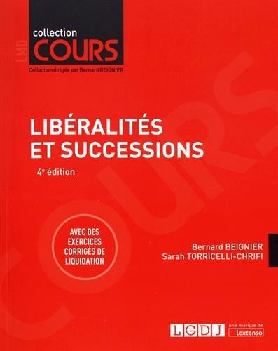 Libéralités et successions