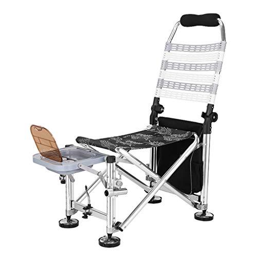 Chaises de pêche Chaise Multifonctionnelle Chaise Pliante Chaise De Camping Chaise De Pique-Nique en Plein Air Peut Supporter 150 Kg Cadeau (Color : Gray, Size : 62 * 41 * 93cm)
