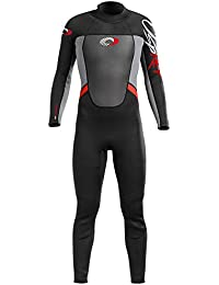 Osprey Men's Origin Wetsuit 5 mm/4 mm Neoprene Full Length, Black/Red