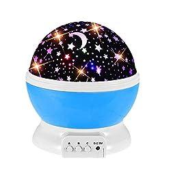 Mit dieser Projektorlampe werden Sie sich auf den Einbruch der Dunkelheit freuen!Geeignet für Kinderzimmer, Partys oder um eine romantische Atmosphäre zu schaffen.Dieser sternenklare Nachtlichtprojektor wird Sie mit einem Gefühl von Staunen erfüllen!...