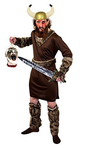 HALLOWEEN WIKINGER KRIEGER KOSTÜM DER RAGNAR KLASSE= MIT ABGEHACKTEM KOPF = DER KOPF HÄNGT AN EINEM SEIL UND IST AUS LATEX = VON ILOVEFANCYDRESS®= DAS KOSTÜM IST ERHALTBAR IN 5 (Kostüm Halloween Barbaren König)