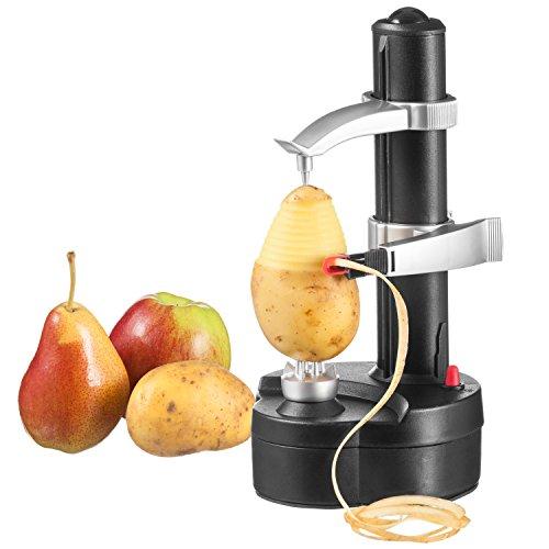 Goods & Gadgets Elektrischer Kartoffelschäler Apfelschäler Gemüseschäler Obstschäler Elektro Schäler für Obst & Gemüse
