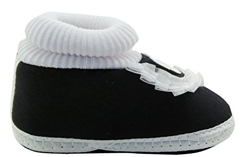 Neska Moda Baby Boys & Girls Frill Butterfly Black Booties For 0 To 12 Months Infants