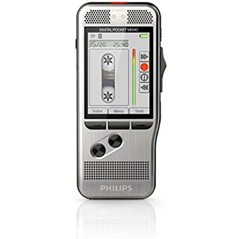 Philips DPM7200 - Grabadora de voz digital (SpeechExec, software de trabajo, formatos MP3, PCM y DSS, 700 horas de grabación), color gris