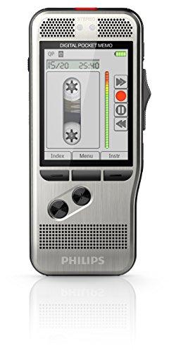 Philips DPM7200 - Grabadora de voz digital (SpeechExec, software de trabajo, formatos MP3, PCM y DSS, 700 horas de grabación), color gris