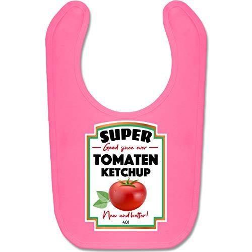 Shirtracer Karneval und Fasching Baby - Ketchup Kostüm funny - Unisize - Pink - BZ12 - Baby Lätzchen (Ketchup Kostüm Baby)