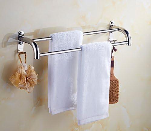 SHJICH-bathroom Doppio Porta Asciugamani a Muro per Bagno con Doppio SHJICH-bathroom Porta Asciugamani (Dimensioni   110cm) 9e6a00