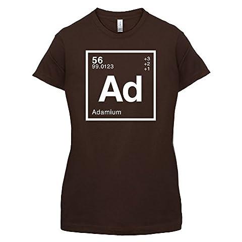 Adam Periodensystem - Damen T-Shirt - Dunkles Schokobraun -