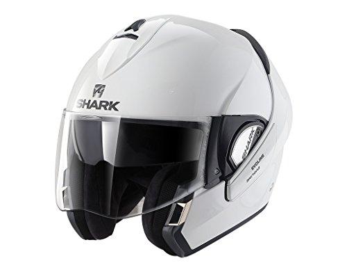 Shark - Casco para moto de color blanco, talla M, Evoline he9350ewhum,...