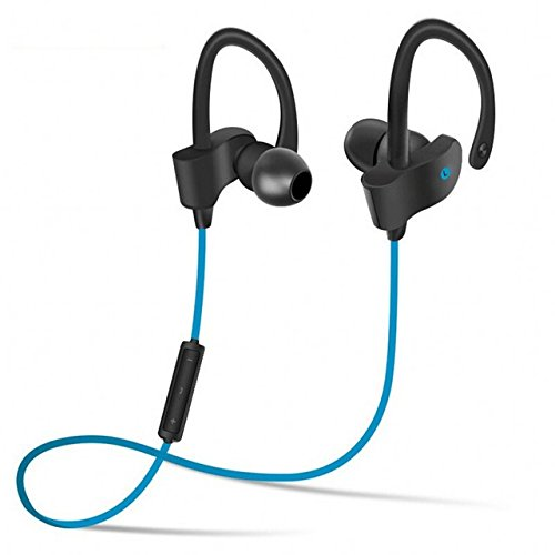 DANGSHUO Auriculares inalámbricos Bluetooth 4.1 Cancelación de Ruido Auriculares estéreo Impermeables Auriculares intrauditivos con micrófono Incorporado Hi-Fi para Deportes